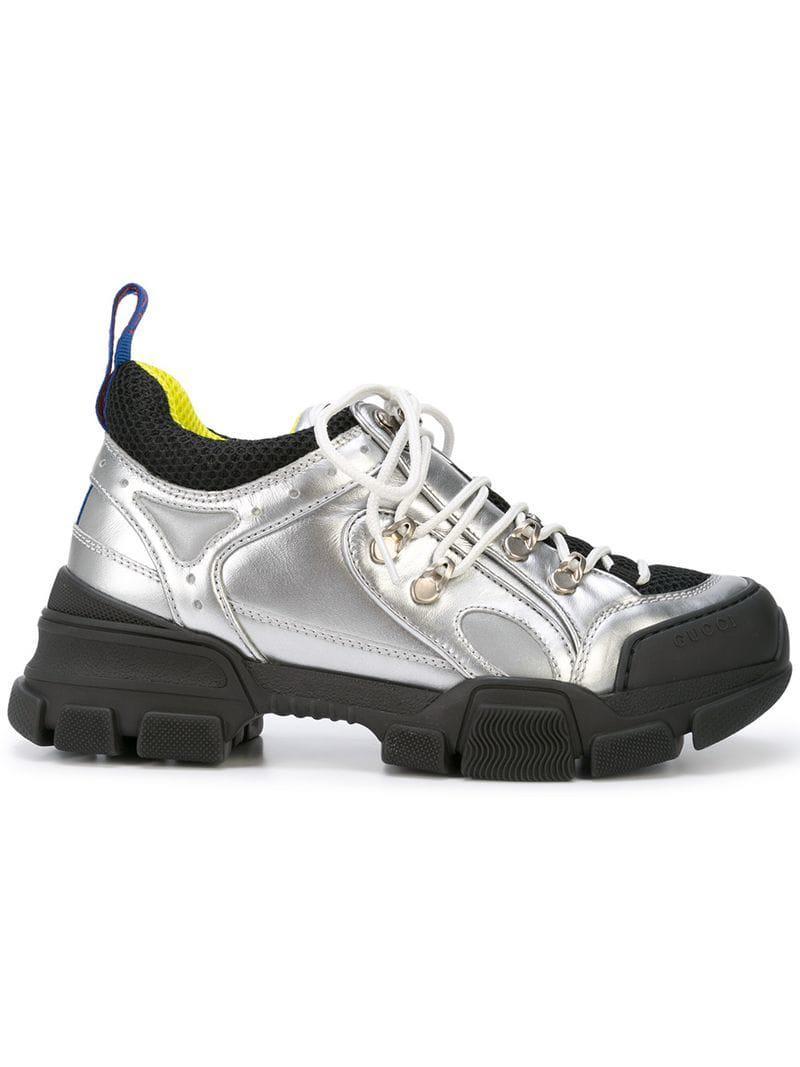 9d483201943 Gucci Flashtrek Sneakers in Metallic - Lyst