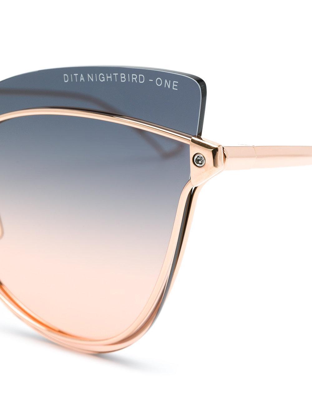 43bf0d8edba Lyst - Dita Eyewear Nightbird One Cat Eye Sunglasses in Metallic