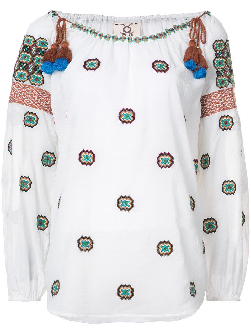 Figue Peia embroidered top Cheap Outlet Store BL7aTwRH2