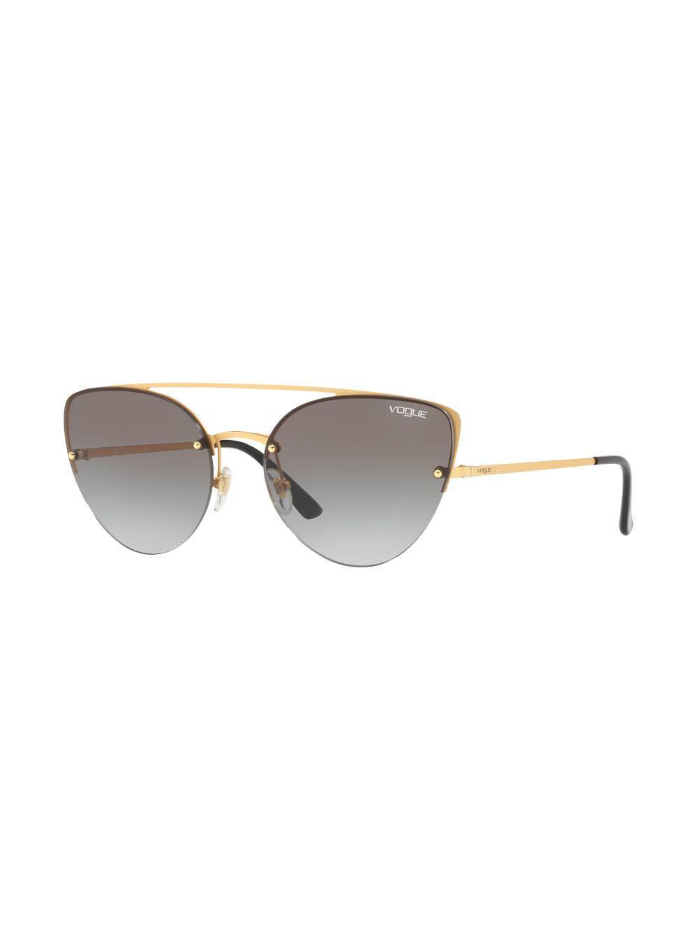 Eyewear Eye Metallic Vogue Lyst In Sunglasses Oversized Cat 4wqZzq6