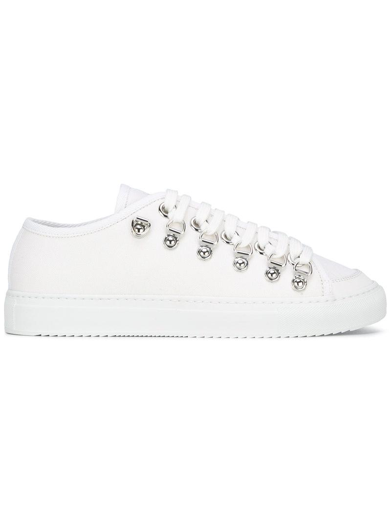 low canvas sneakers - White J.W.Anderson Pay With Visa Online Cheap Price Low Shipping Fee 3dq8oJO