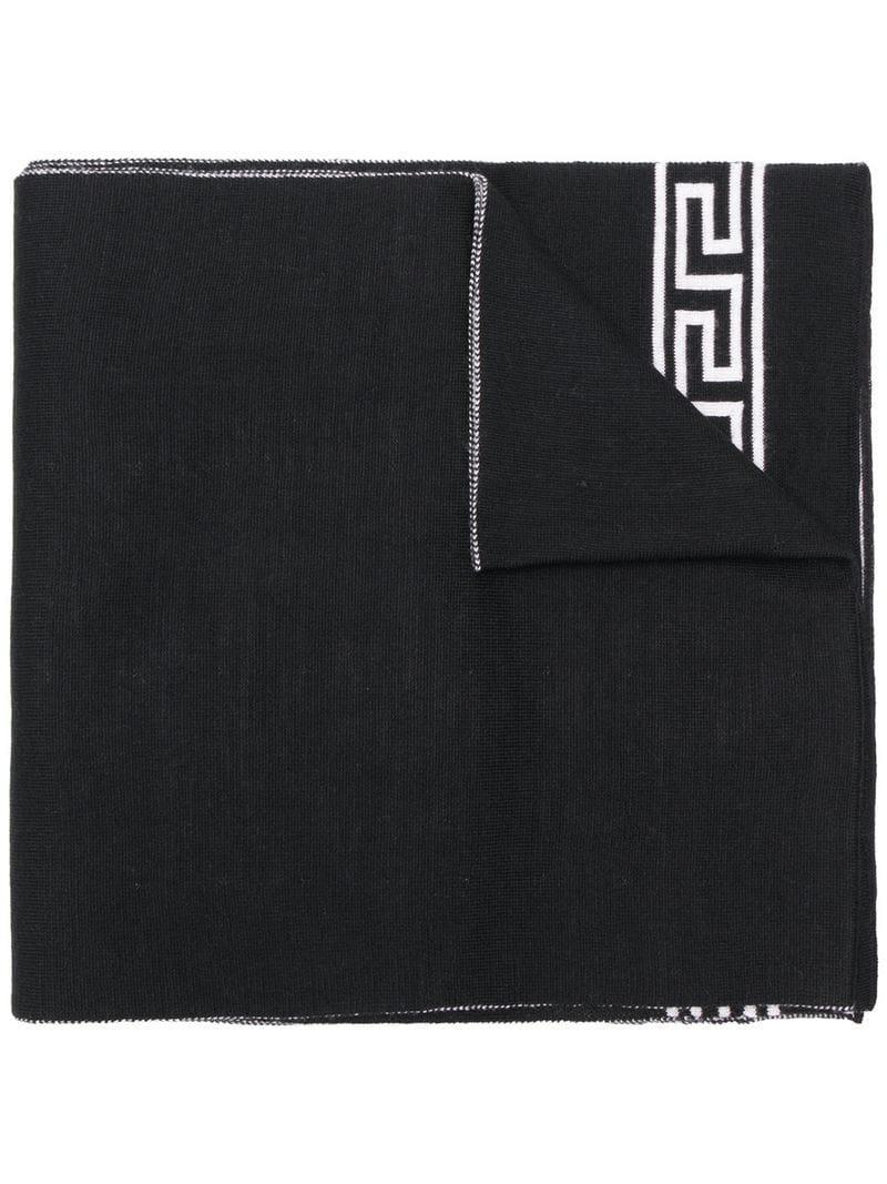 046629feb76 Lyst - Écharpe Medusa Versace pour homme en coloris Noir