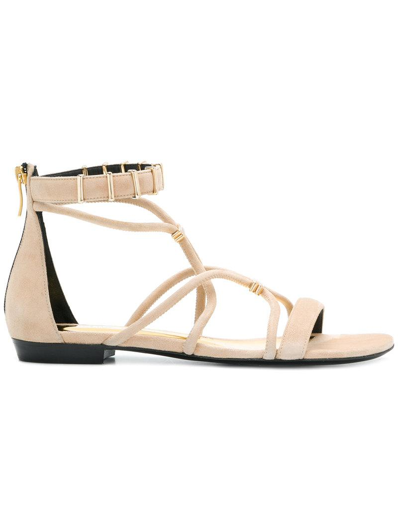 open-toe strapped sandals - Nude & Neutrals Barbara Bui Vdk9BR