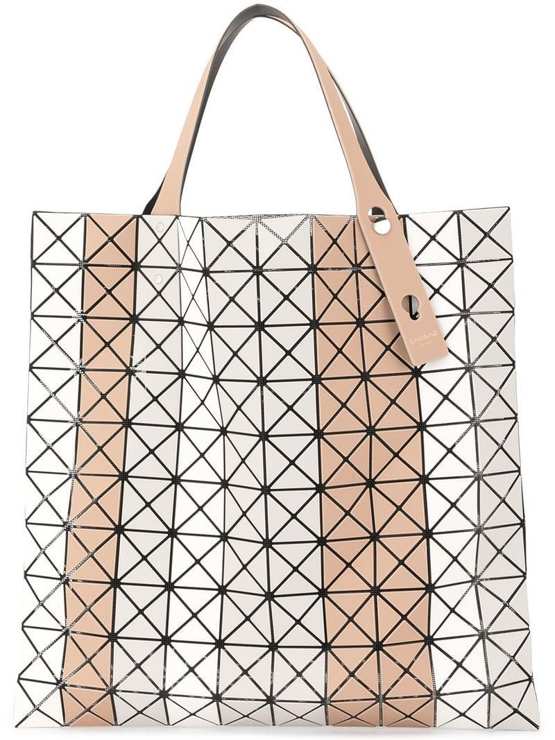 d74470e120 Bao Bao Issey Miyake Striped Prism Tote in Brown - Lyst