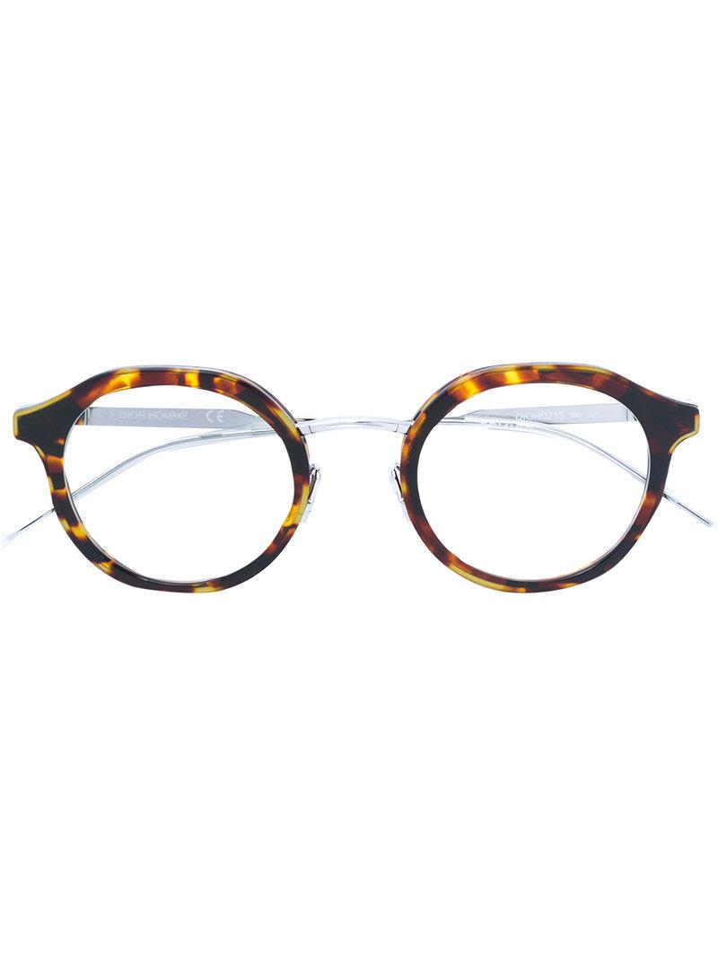 27b97047d9 Dior Round Shaped Glasses in Metallic for Men - Lyst