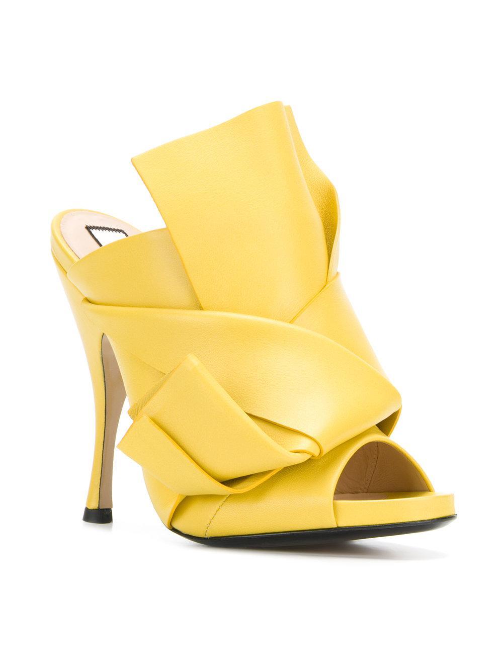 abstract bow platform sandals - Yellow & Orange N°21 B3lZHCC