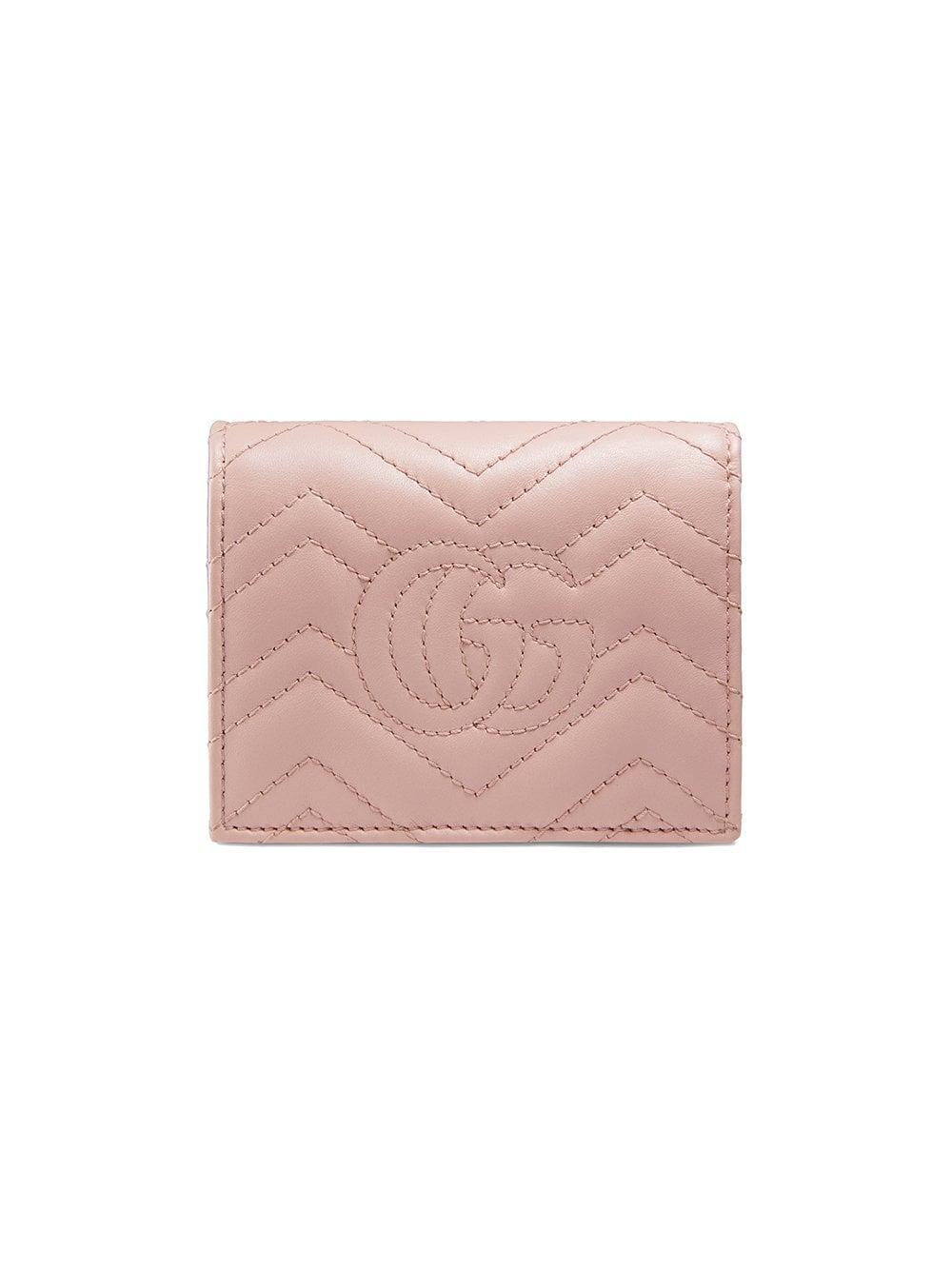 a05c13348b8d8a Gucci - Pink GG Marmont Card Case - Lyst. View fullscreen