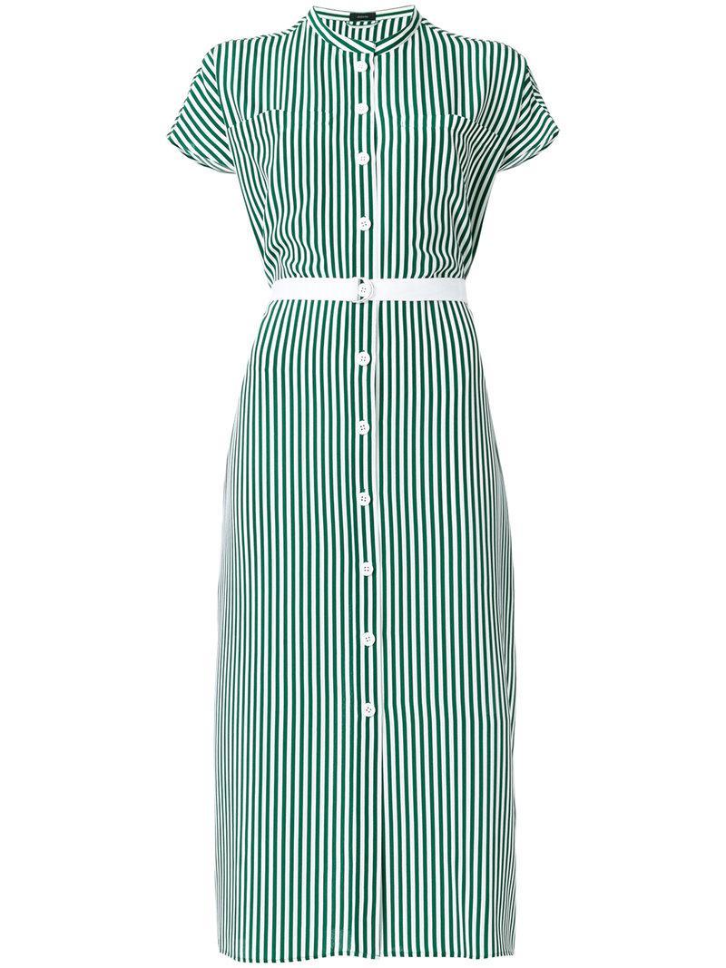 striped shirt dress - Green Joseph nFS9Bq