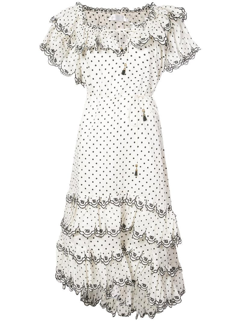 Jaya tiered dress - White Zimmermann Manchester Cheap Online zapKP