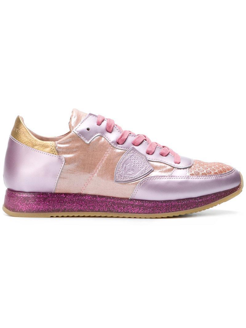 Tropez hummingbird sneakers - Pink & Purple Philippe Model nDNUiqPUd