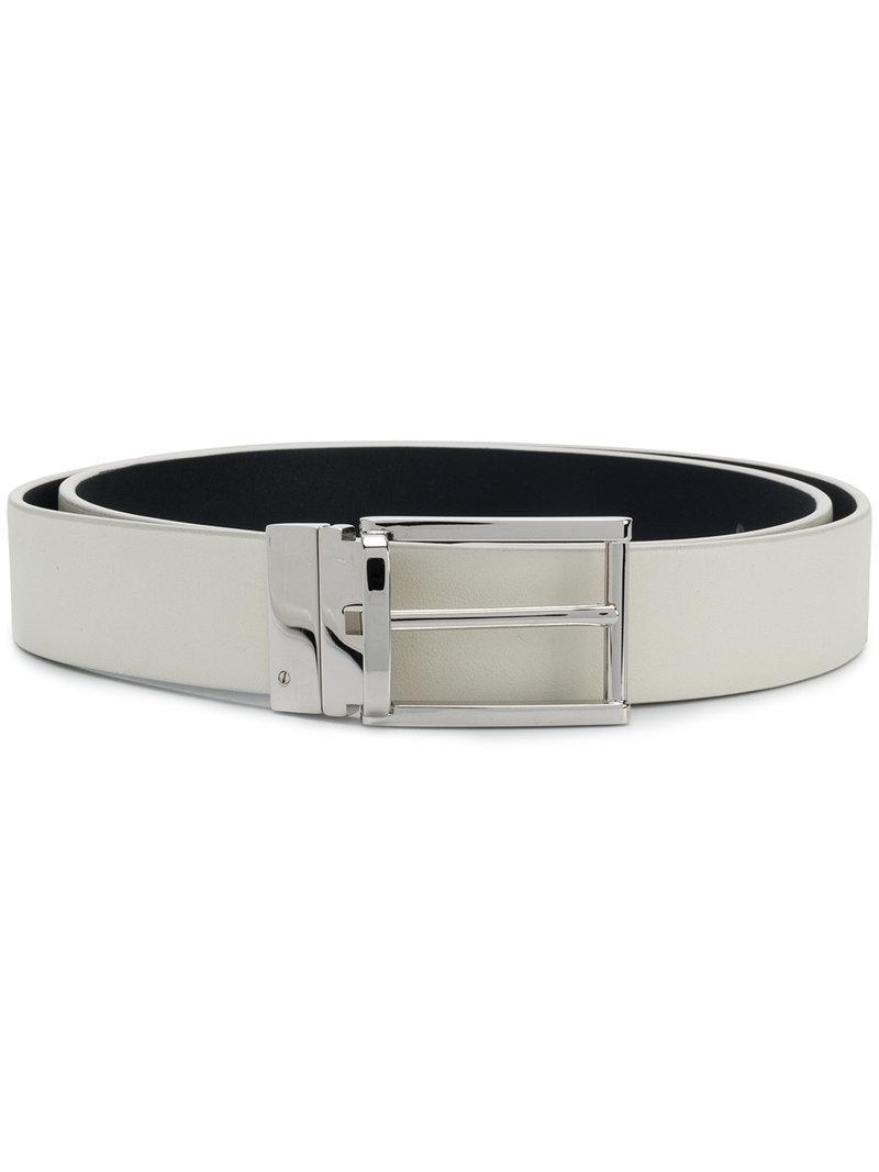 Lyst - Cinturón con hebilla cuadrada Jil Sander de hombre de color ... 9fc4e75733f7