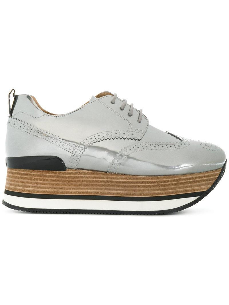 c400c79da9e Hogan Platform Brogues in Metallic - Lyst