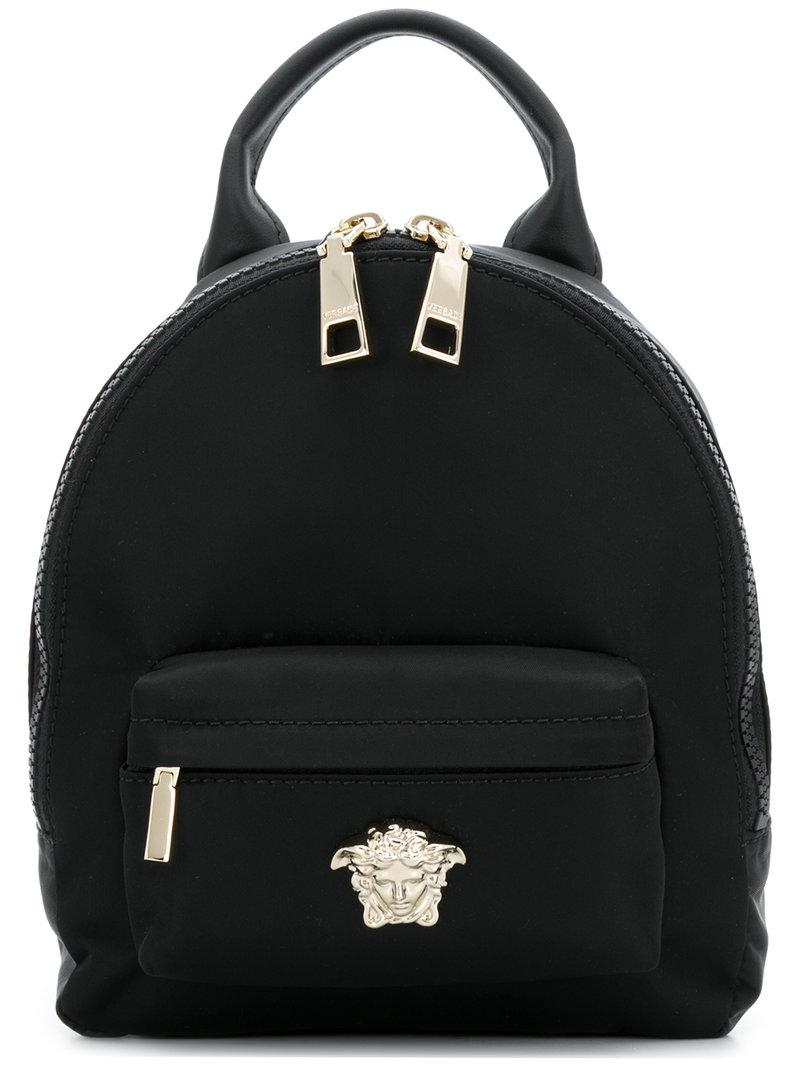 Lyst - Versace Medusa Palazzo Backpack in Black e0923416d8