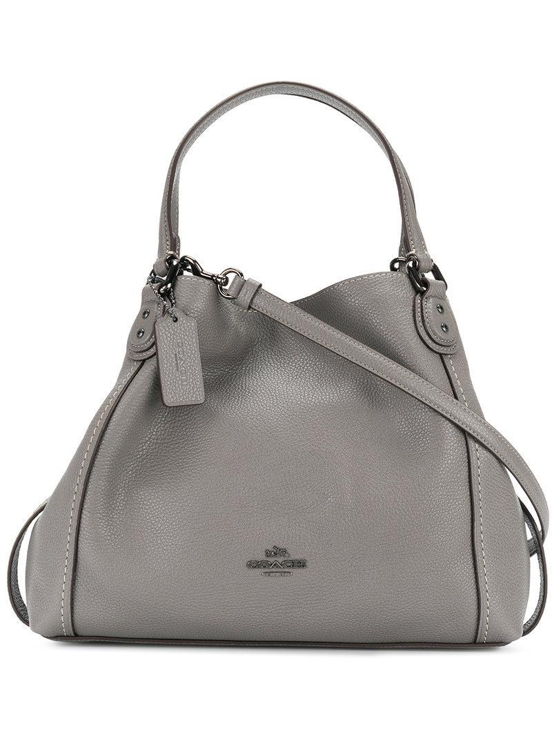 b35712a3a1233 Lyst - COACH Edie Shoulder Bag in Gray