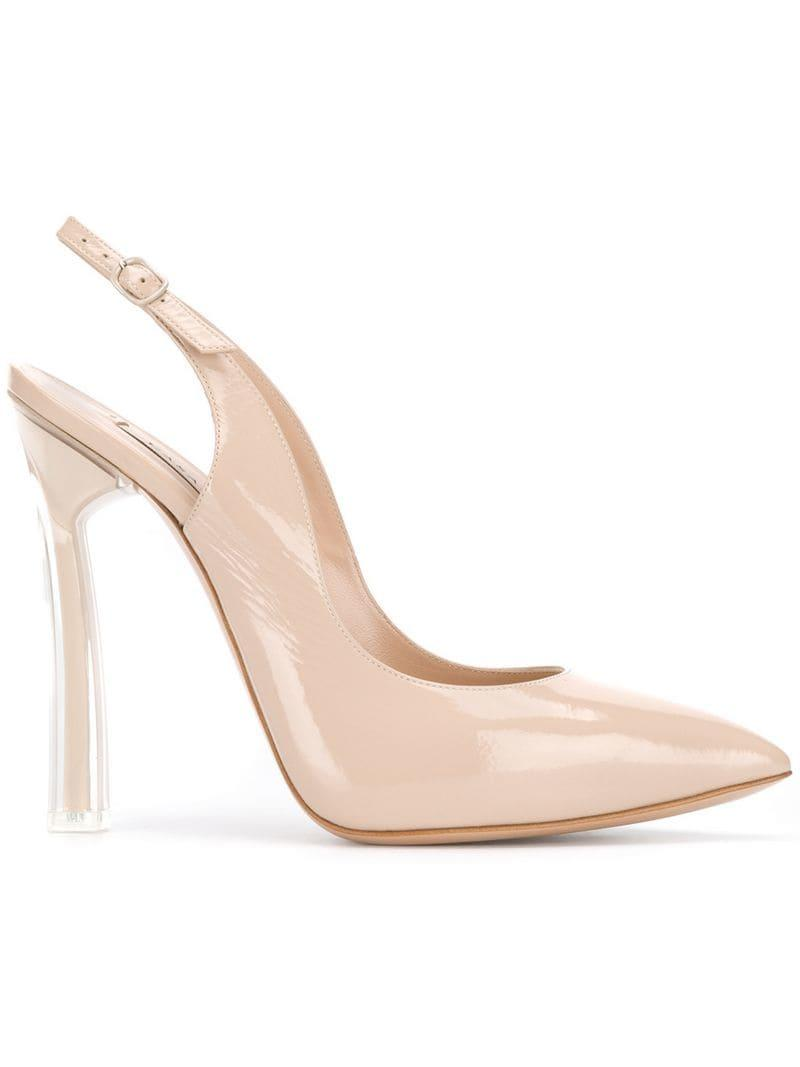 Pumps Lyst Natural Blade Casadei Plexi In WHDIY2Ee9b