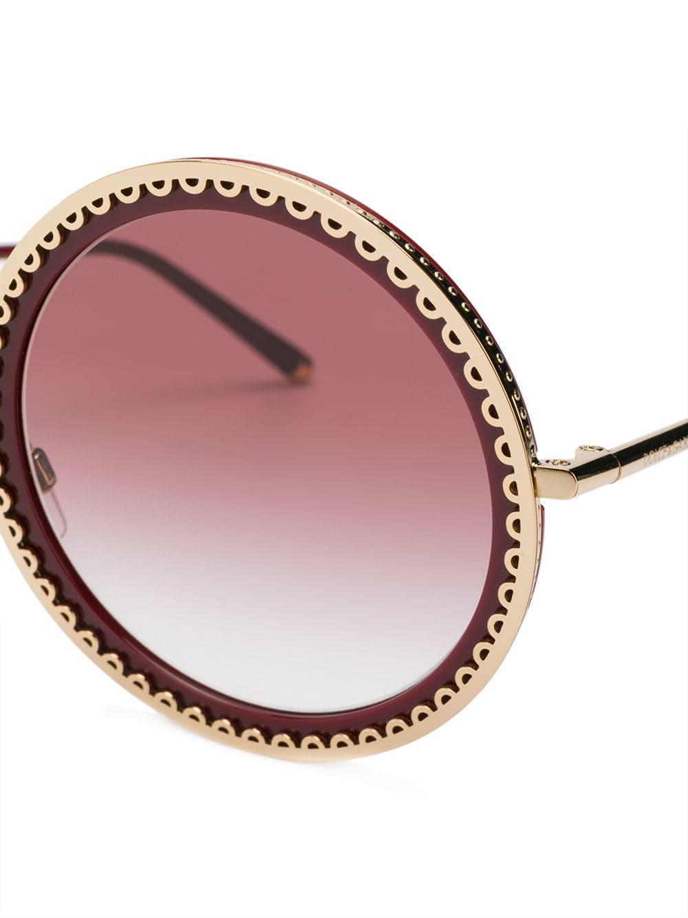 77387fd22d38 Dolce & Gabbana - Red Cuore Sacro Sunglasses - Lyst. View fullscreen
