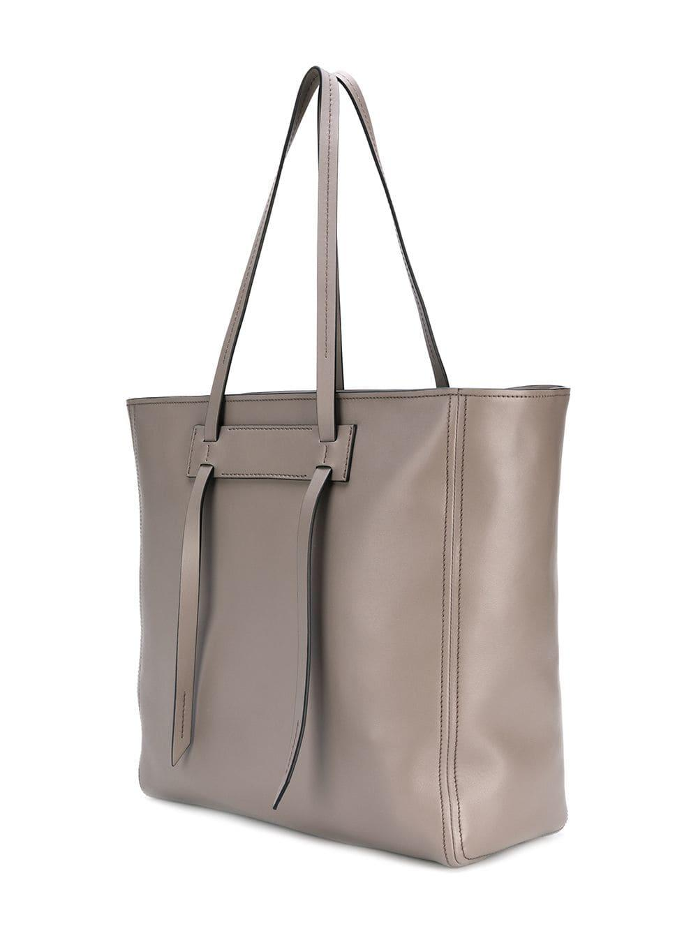 Lyst - Miu Miu Grace Luxe Leather Tote in Gray bcd58a8399966