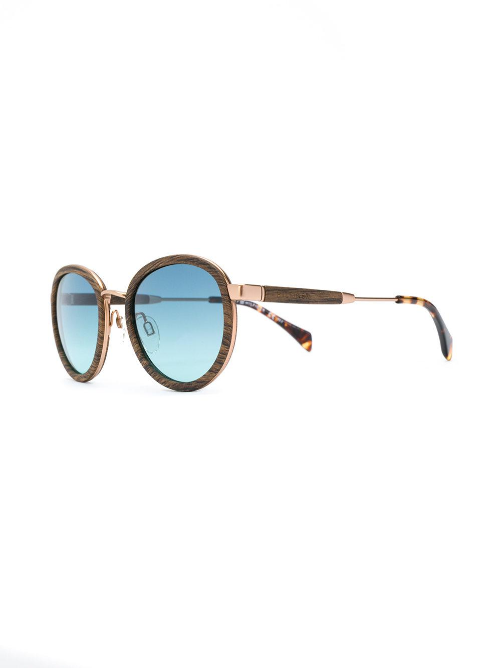 febc5300e4f Tommy Hilfiger Wood Effect Sunglasses in Brown - Lyst