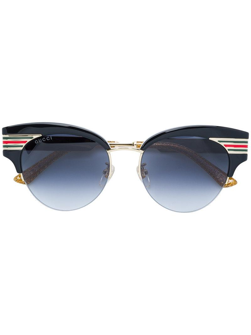9958da40b0 Gucci - Black Cat Eye Shaped Sunglasses - Lyst. View fullscreen