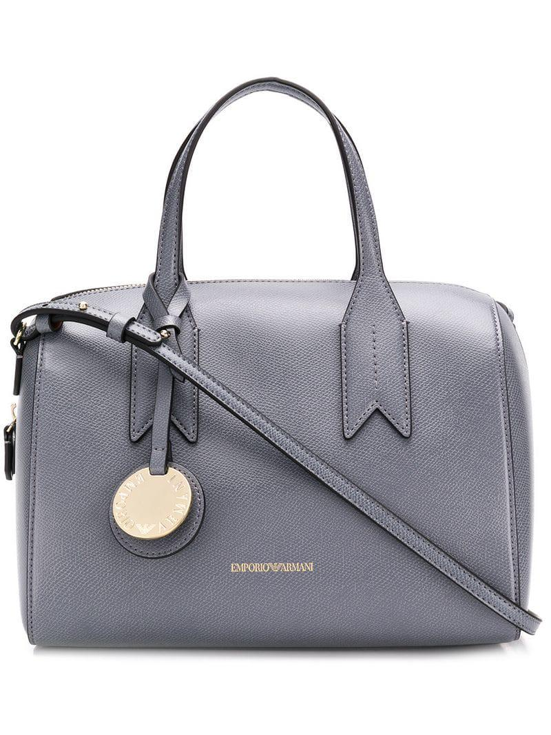 133b1559bed6 Lyst - Emporio Armani Structured Tote Bag in Gray