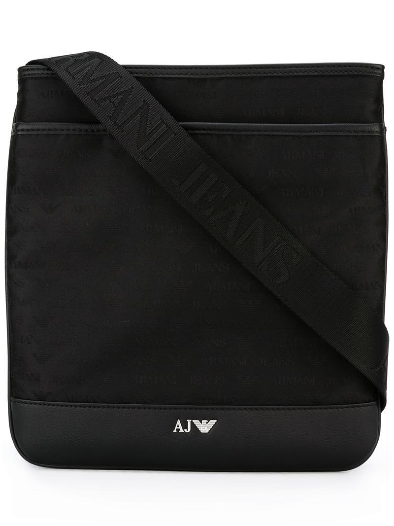 41bd0ffee0d ... Lyst - Armani Jeans Logo Stash Bag in Black for Men premium selection  01ad3 094c5 ...