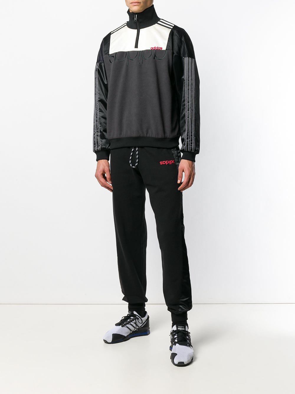 f6537bbde9a Alexander Wang Colour-block Zip Sweatshirt in Black - Save 7% - Lyst