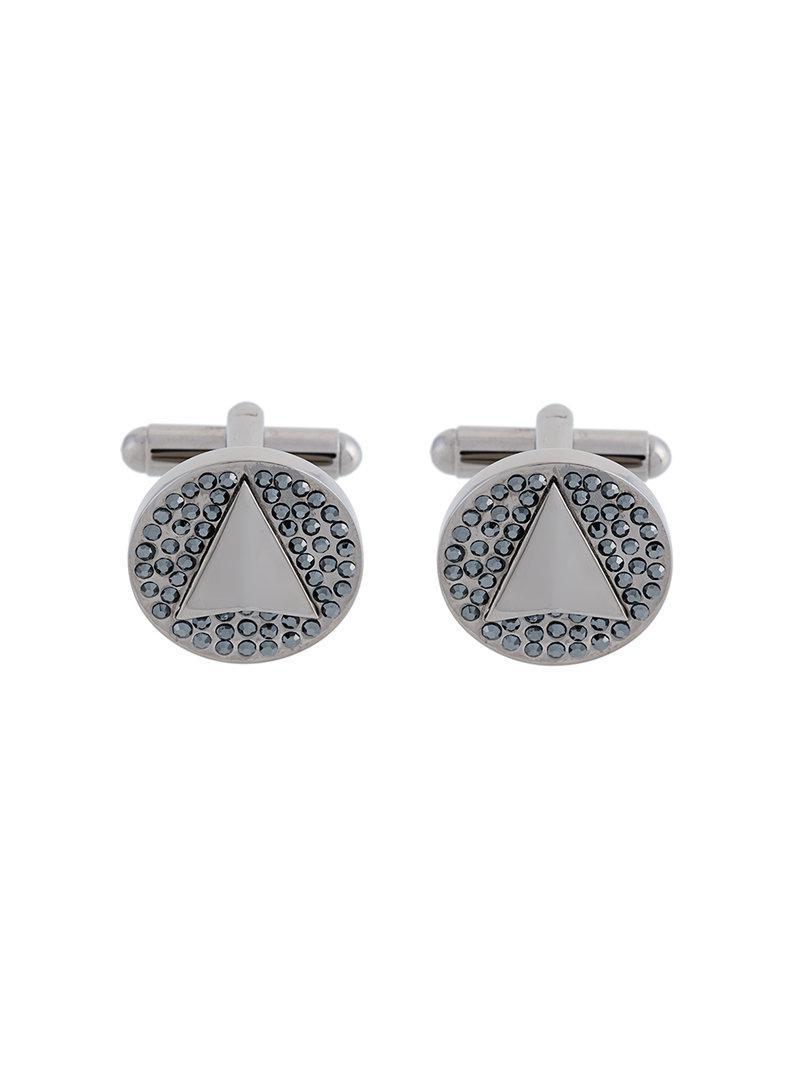 Northskull perforated cufflinks - Metallic P5pUqO