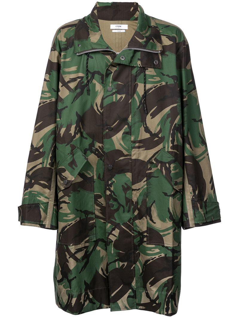 423afcc3cc892 Cmmn Swdn Camouflage Print Coat in Green for Men - Save 16% - Lyst