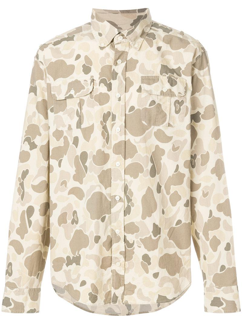 ecdfcd159 GANT Camouflage Print Shirt in Natural for Men - Lyst