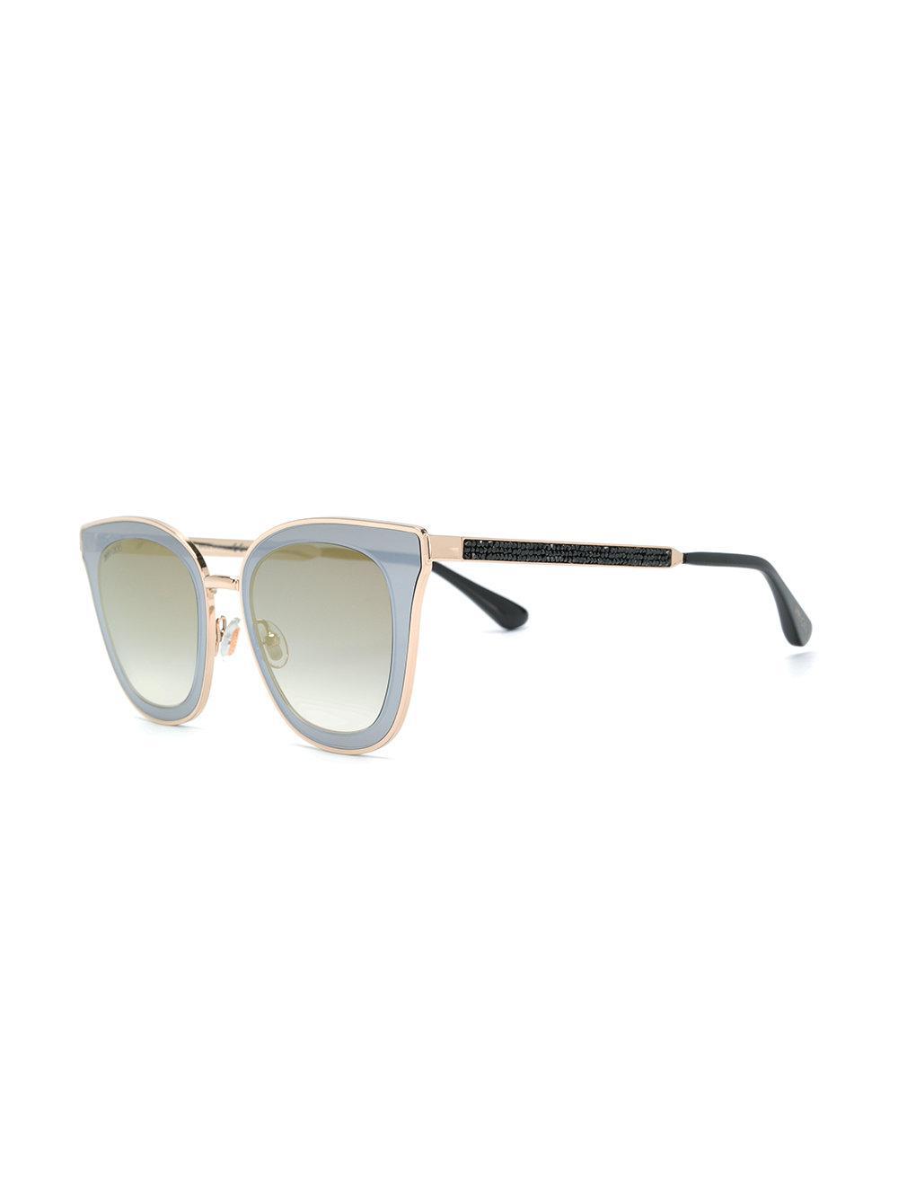 742ea3c0cc6 Jimmy Choo - Gray Lory 49 Sunglasses - Lyst. View fullscreen