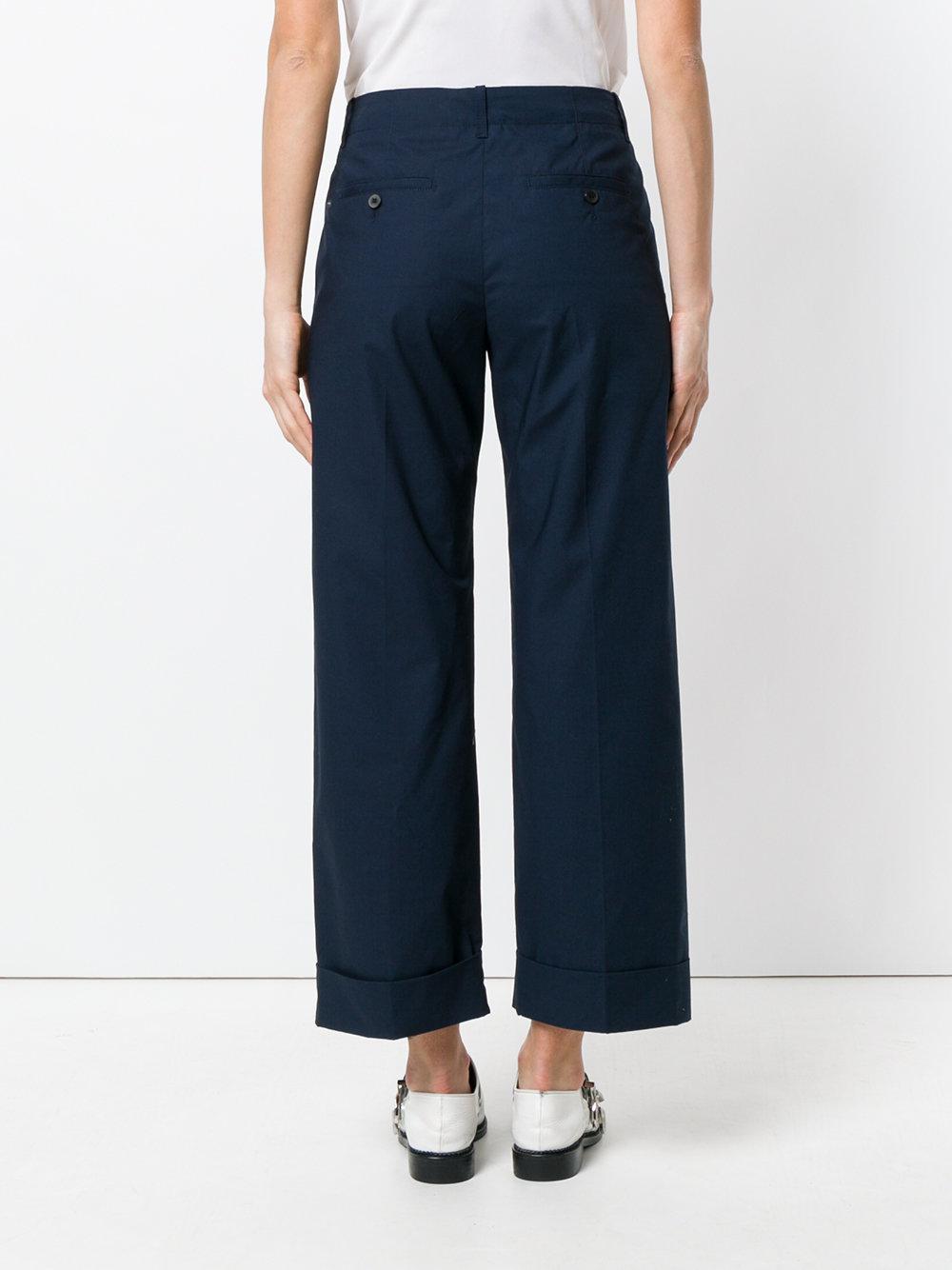 striped wide leg trousers - Blue Alberto Biani Pd8ud