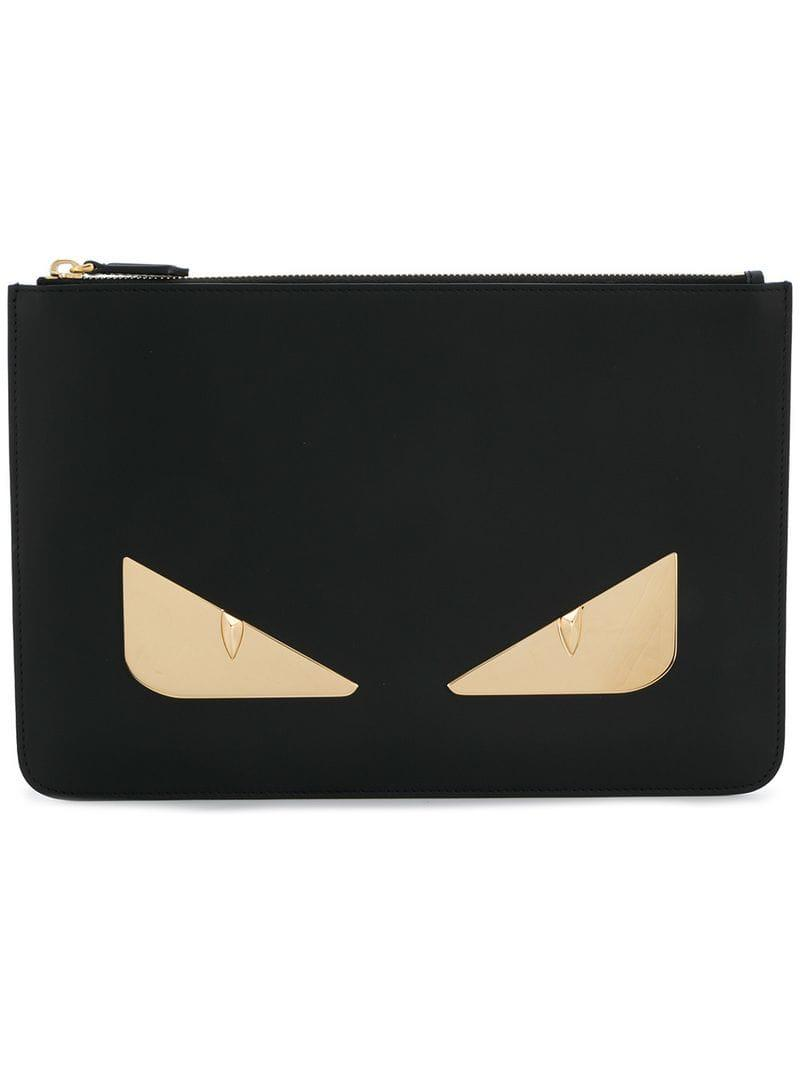 ff6afeaafead Lyst - Fendi Bag Bugs Zipped Pouch in Black for Men - Save 36%