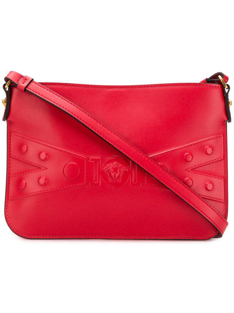 4f5290c454 Versace Embossed Medusa Shoulder Bag in Red - Lyst