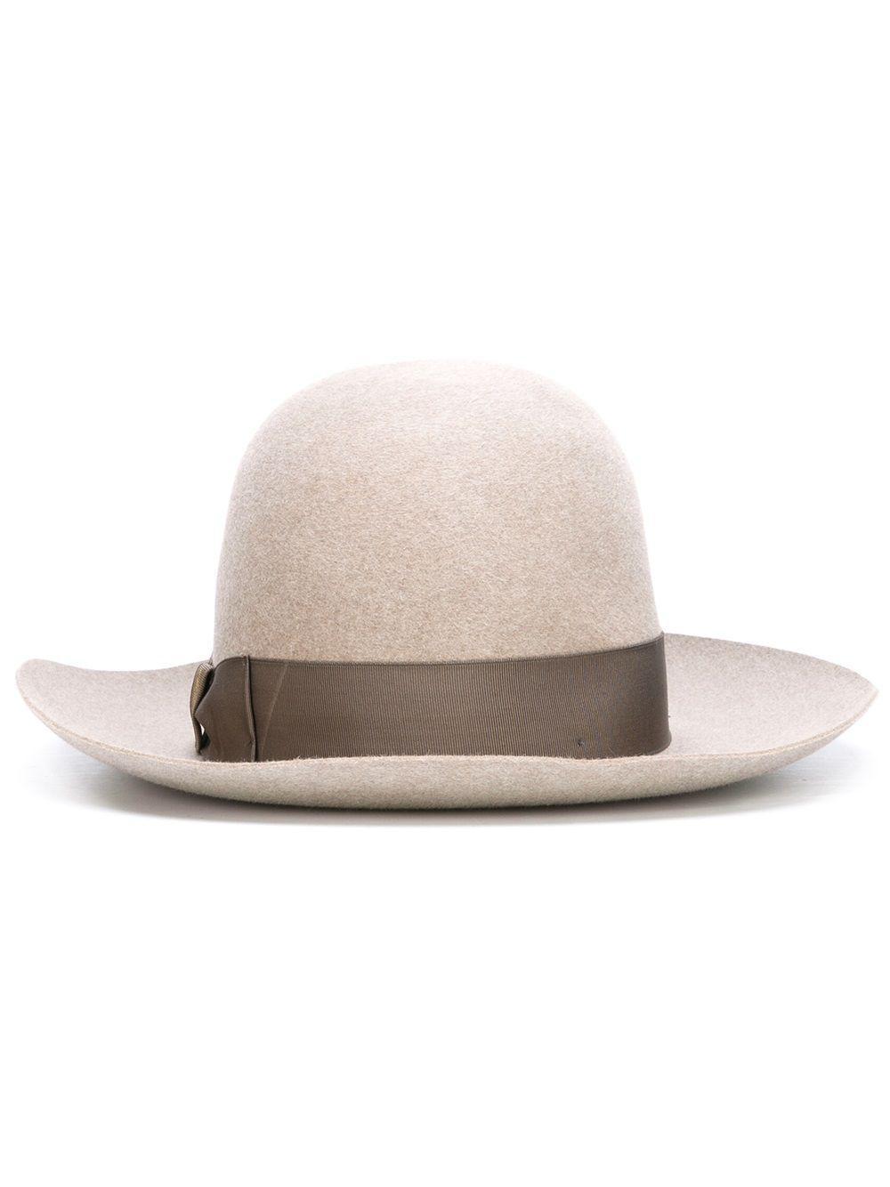 Lyst - Sombrero con lazo Borsalino de color Neutro c18640cfaef
