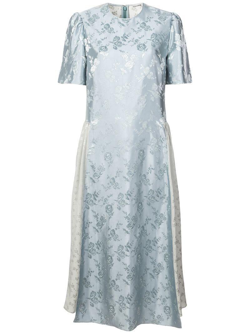 8cbbebc1bfb Lyst - Жаккардовое Платье Миди Stella McCartney
