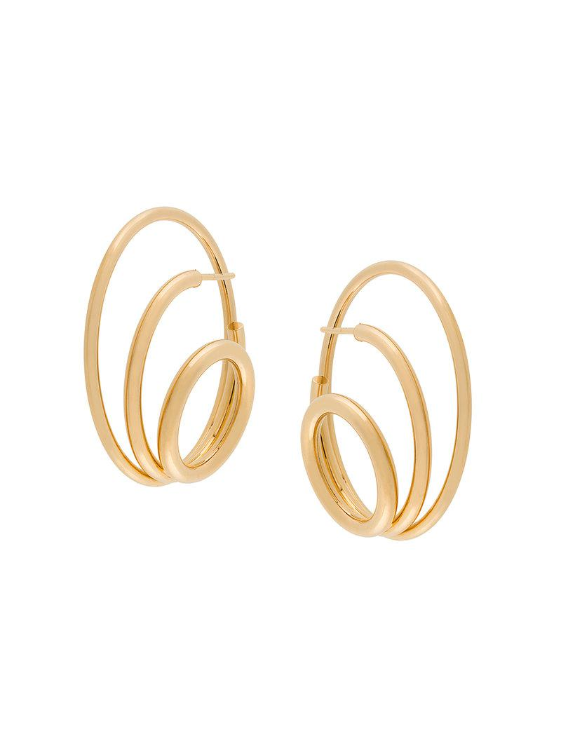 Looping earring - Metallic Charlotte Chesnais xM4M3SsWwe