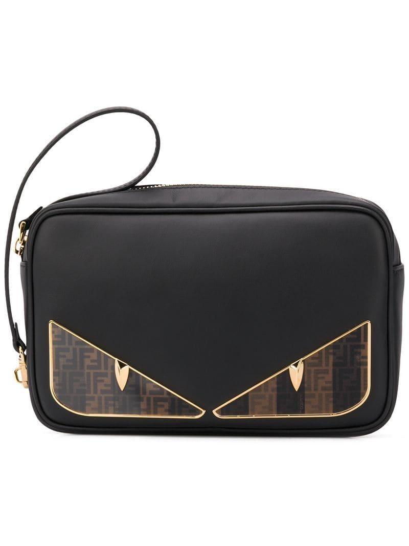 a6390e2c682b Lyst - Fendi Bag Bugs Wash Bag in Black for Men