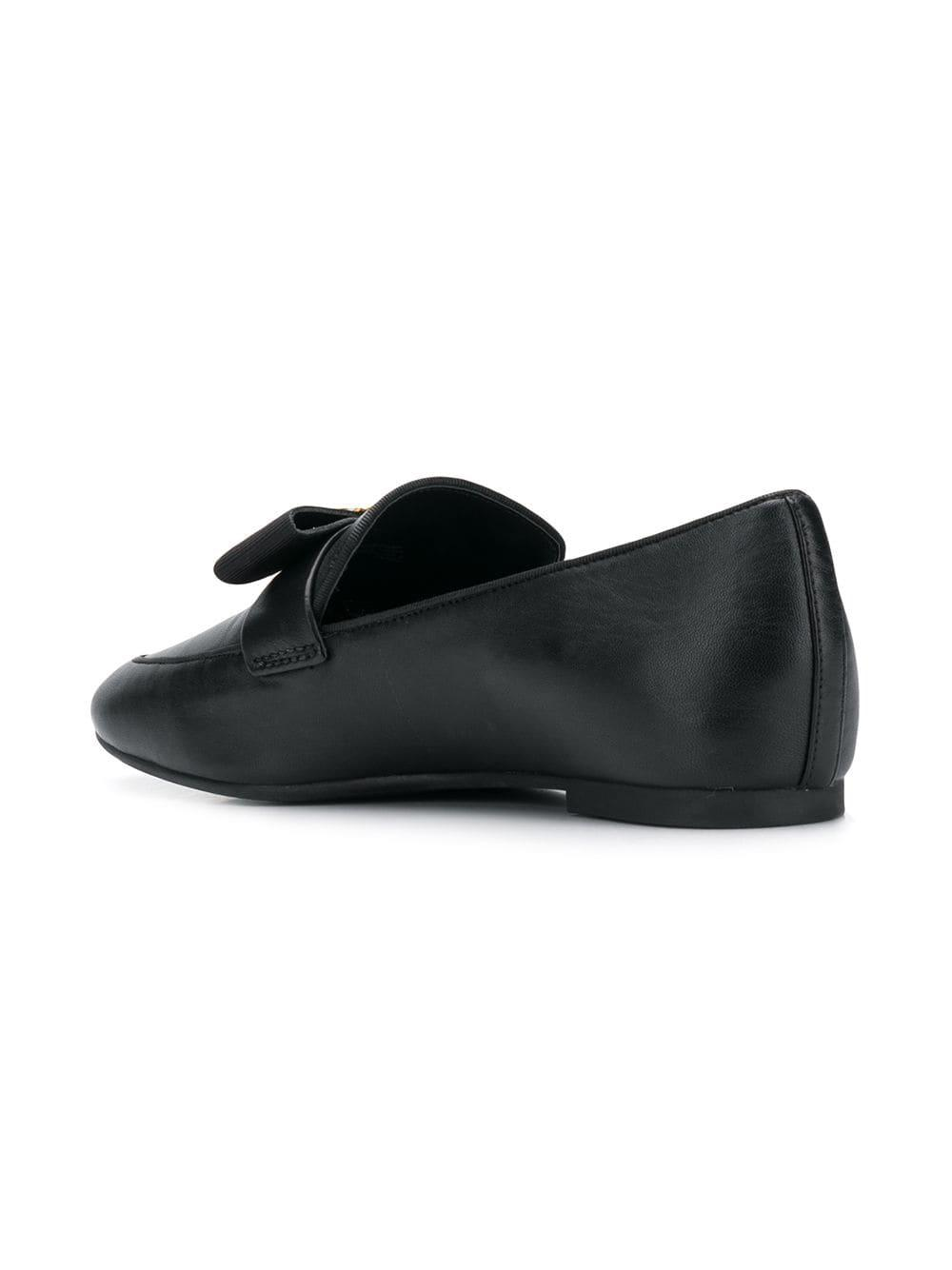 956f0fc9b63 Lyst - Michael Michael Kors Flat Bow Loafers in Black