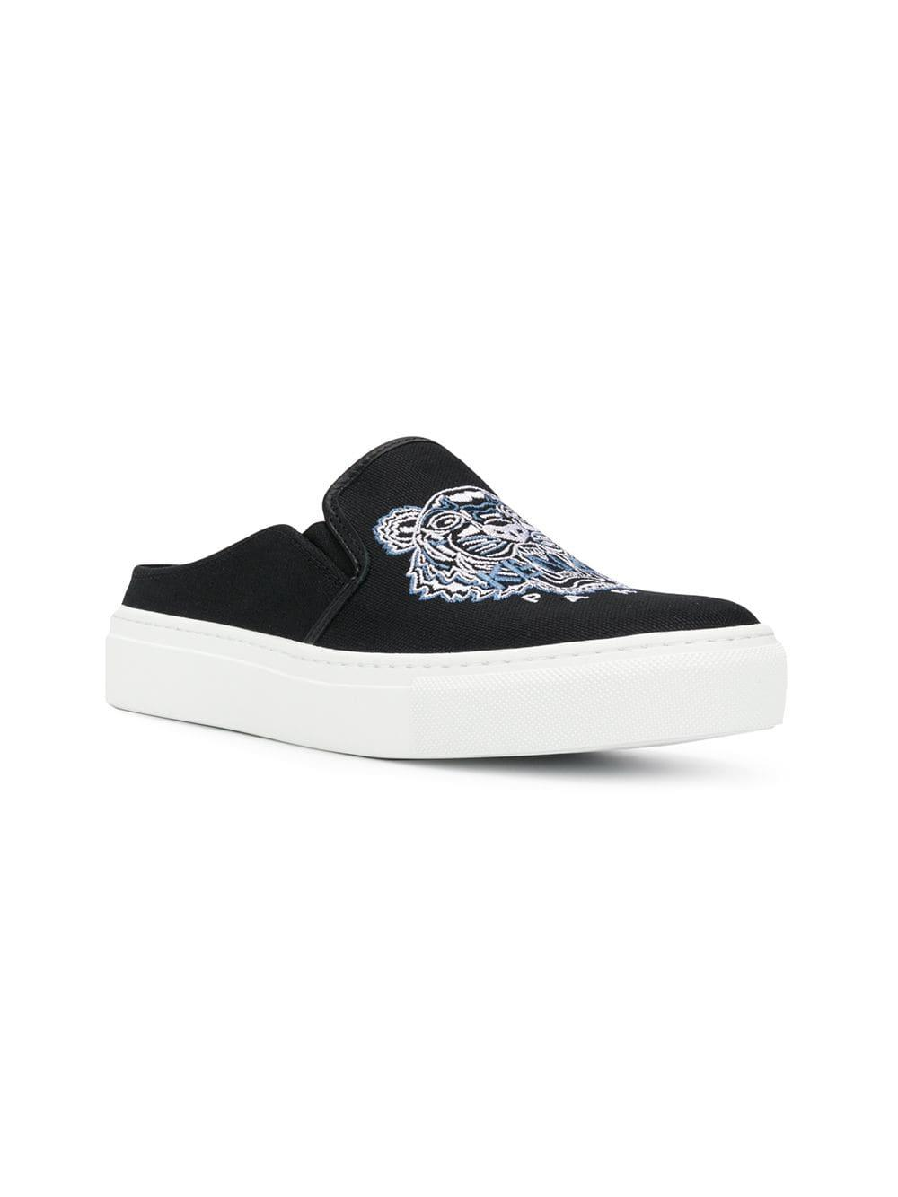27f1b7b34 Lyst - Kenzo Tiger Slip-on Sneakers in Black