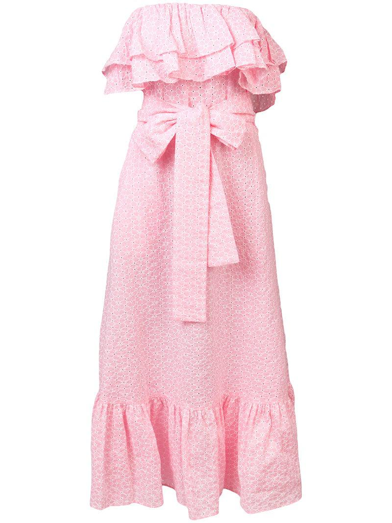 0567201541f0 lisa-marie-fernandez-pink-Strapless-Ruffle-Midi-Dress.jpeg
