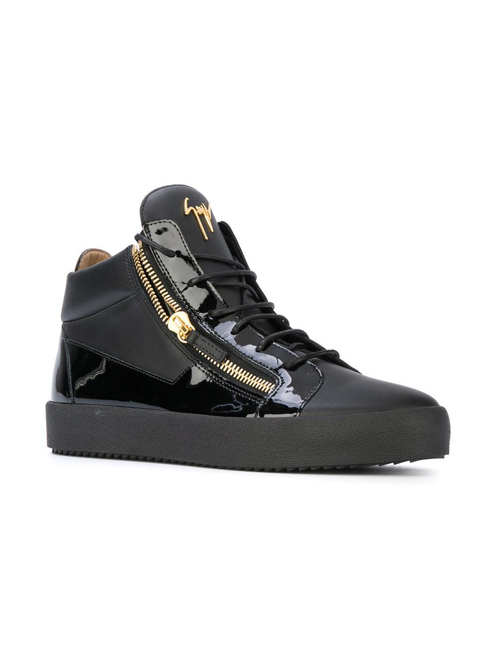 bdb06dbb8782 Lyst - Giuseppe Zanotti Black Micro-studded Leather  may London  High-top  Sneakers in Black for Men - Save 50%