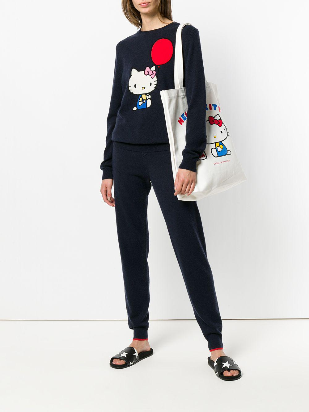 69798178d Lyst - Chinti & Parker Hello Kitty Patch Track Trousers in Blue