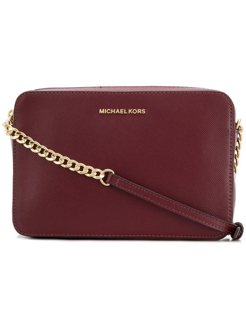 7b02be7df3e1 MICHAEL Michael Kors Logo Crossbody Bag in Red - Save 52% - Lyst