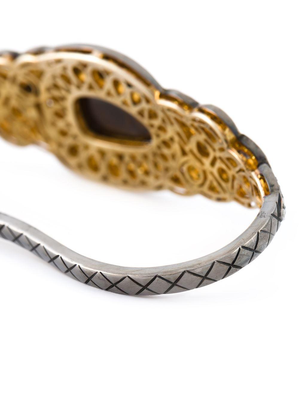 Gemco Designs 14kt gold diamond embellished bangle - Metallic w4wdaQNHT