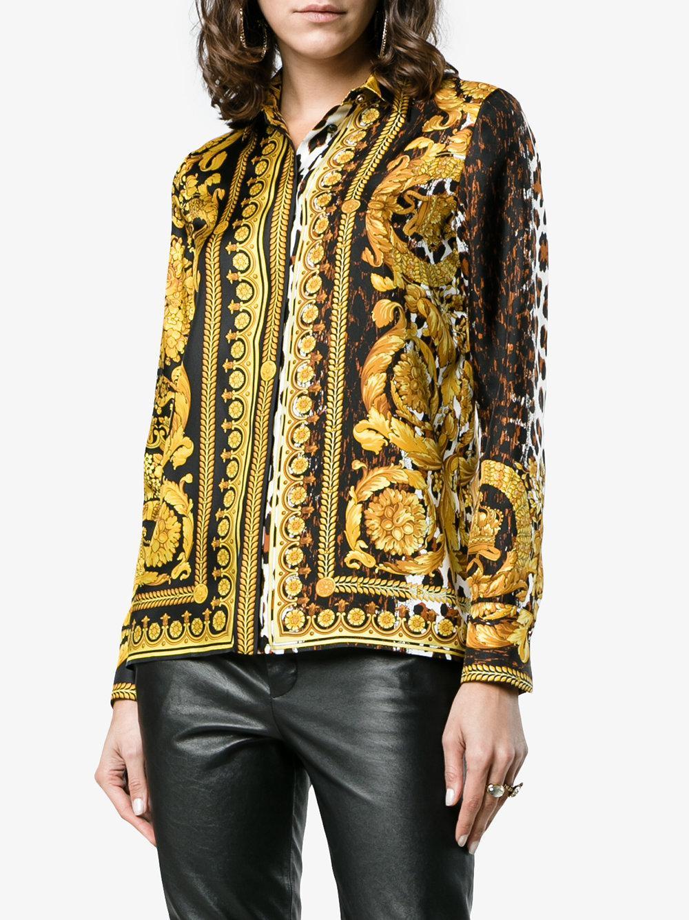 cb53618dc1f13c Versace - Black Barocco Fw  91 Silk Shirt - Lyst. View fullscreen