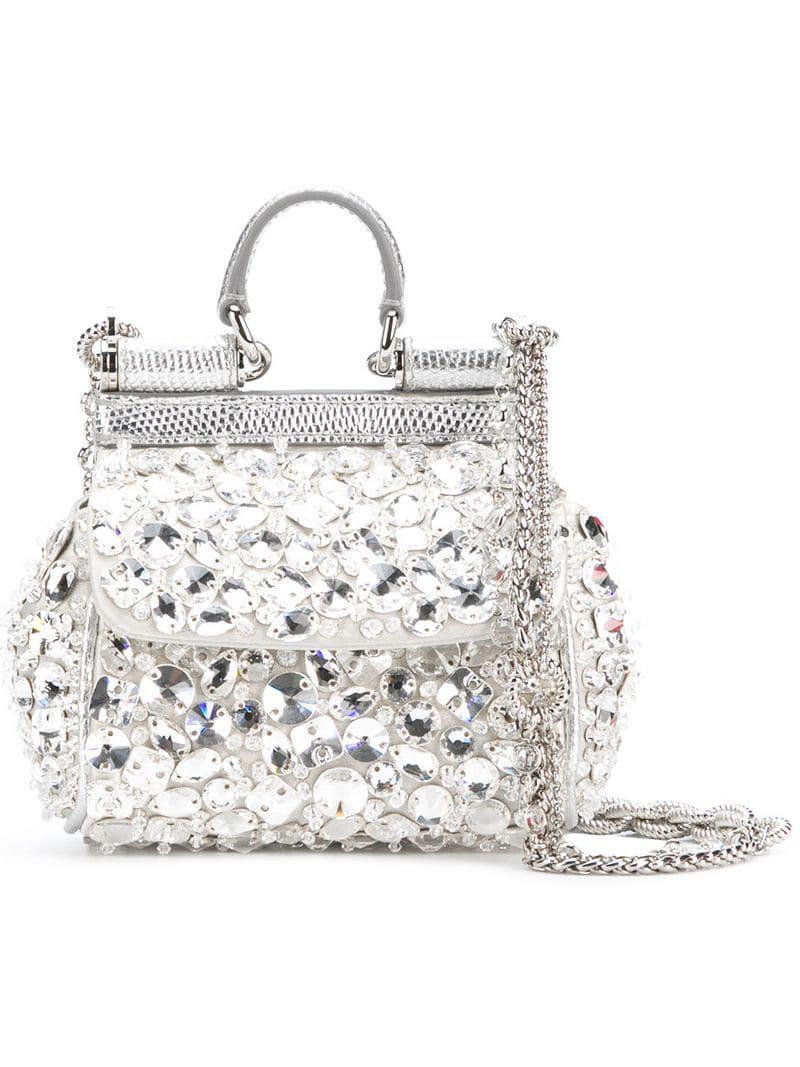 4ae8e276190e Dolce   Gabbana Mini Sicily Bag in Metallic - Lyst
