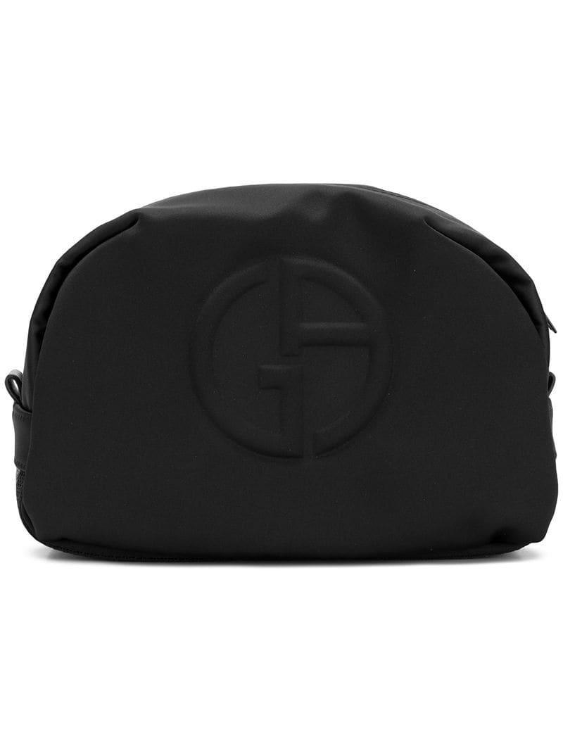 f73d5727b0f0 Несессер С Тиснением Логотипа Giorgio Armani для него, цвет: Черный ...