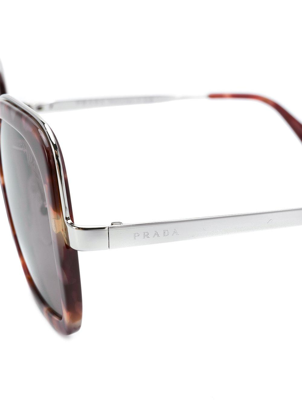 260988261b Lyst - Prada Tortoiseshell-effect Cinema Square-frame Sunglasses
