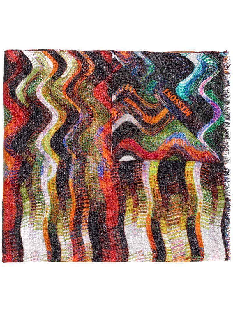 Missoni cheque impreso bufanda cheque cheque tejida Missoni impreso Missoni tejida bufanda bufanda impreso qEdFwRF