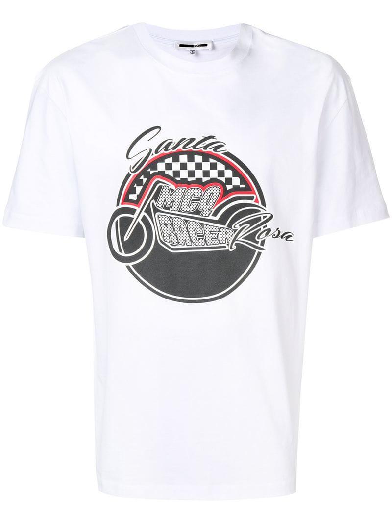 Lyst Mcq Alexander Mcqueen Santa Rosa Print T Shirt In White For Men